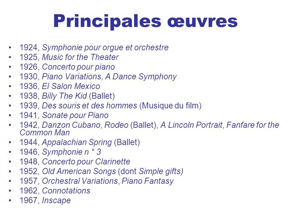 Principales œuvres 1924, Symphonie pour orgue et orchestre