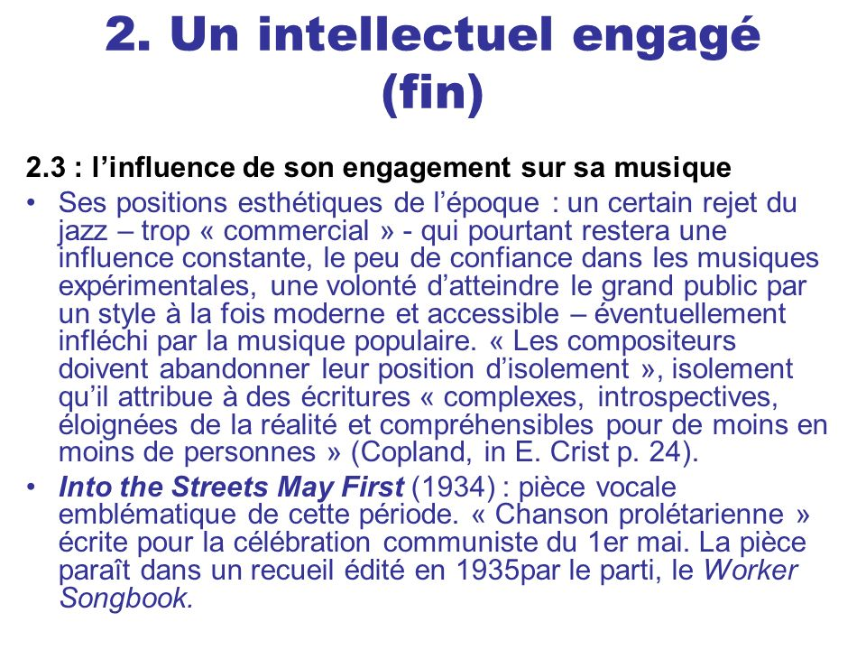 2. Un intellectuel engagé (fin)