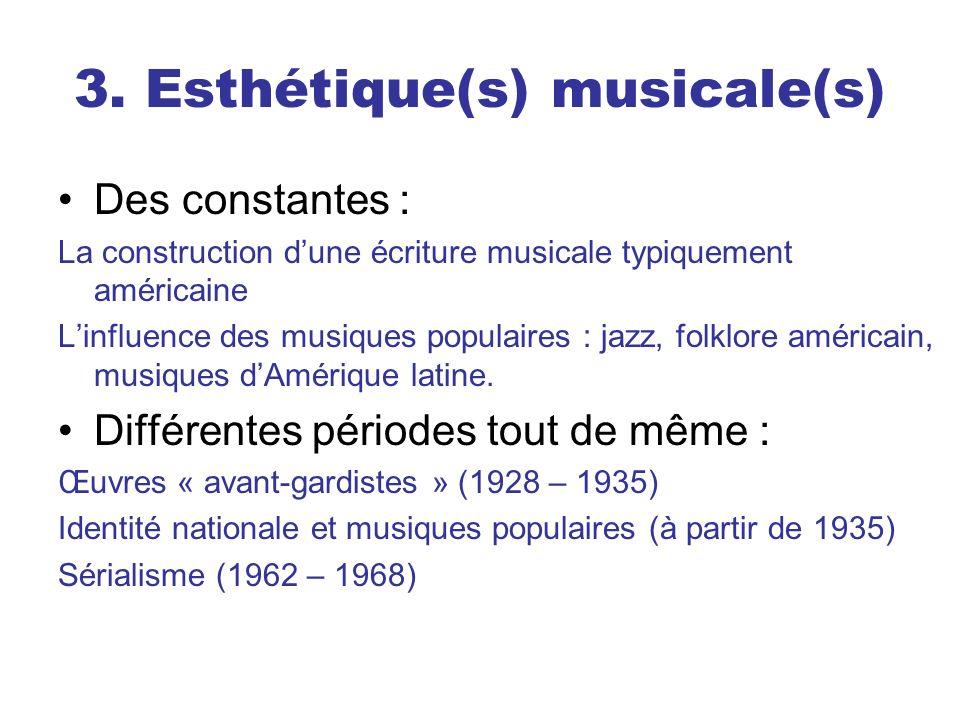 3. Esthétique(s) musicale(s)