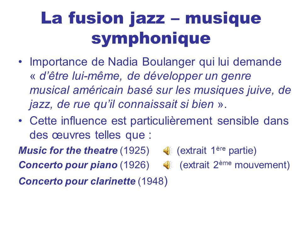 La fusion jazz – musique symphonique