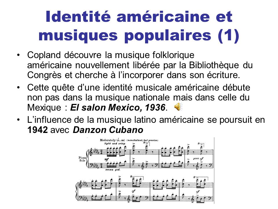 Identité américaine et musiques populaires (1)