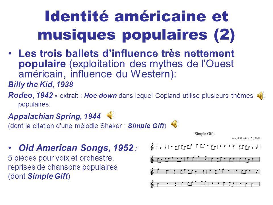 Identité américaine et musiques populaires (2)