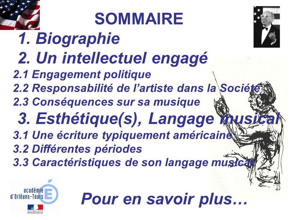 SOMMAIRE 1. Biographie 2. Un intellectuel engagé 2