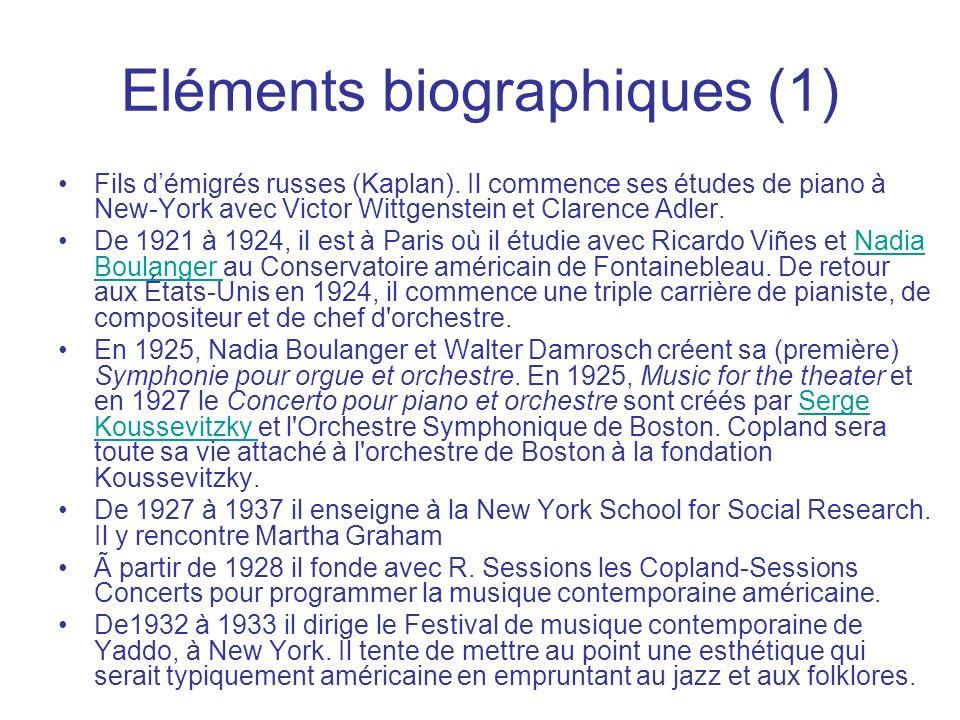 Eléments biographiques (1)