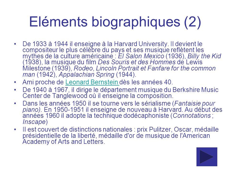 Eléments biographiques (2)