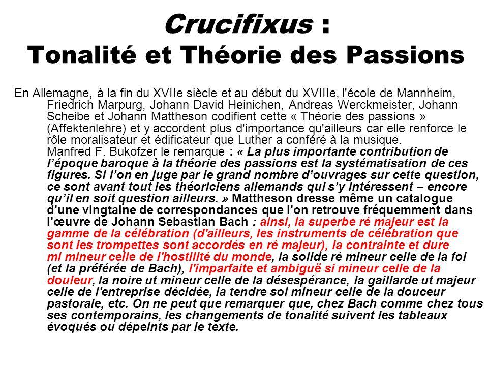 Crucifixus : Tonalité et Théorie des Passions