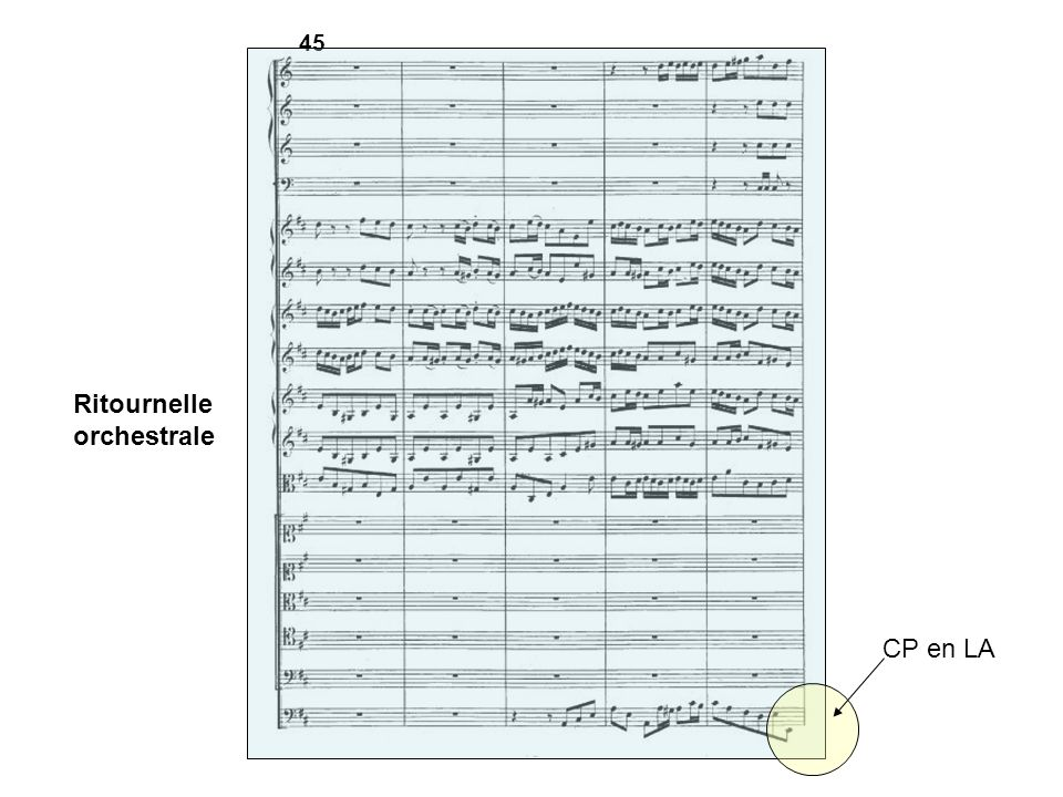 45 Ritournelle orchestrale CP en LA