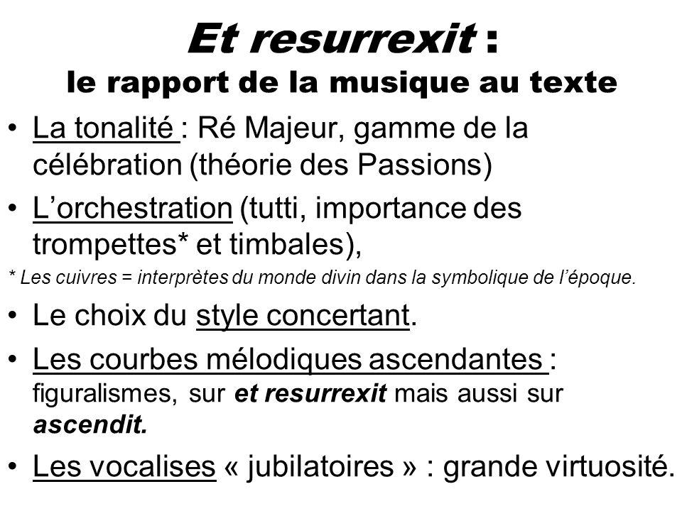 Et resurrexit : le rapport de la musique au texte