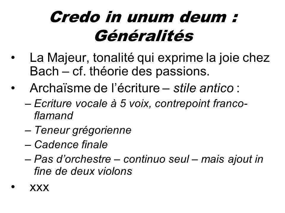 Credo in unum deum : Généralités