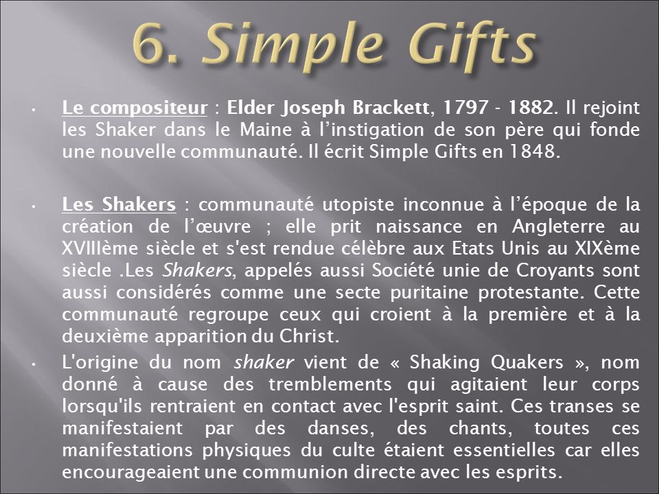 6. Simple Gifts