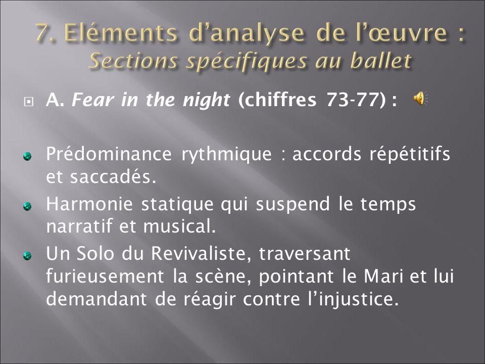 7. Eléments d'analyse de l'œuvre : Sections spécifiques au ballet