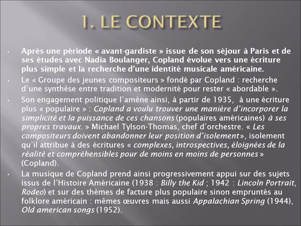 1. LE CONTEXTE