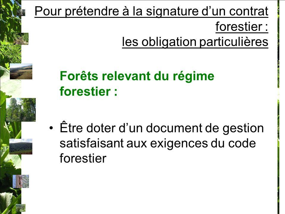 Forêts relevant du régime forestier :