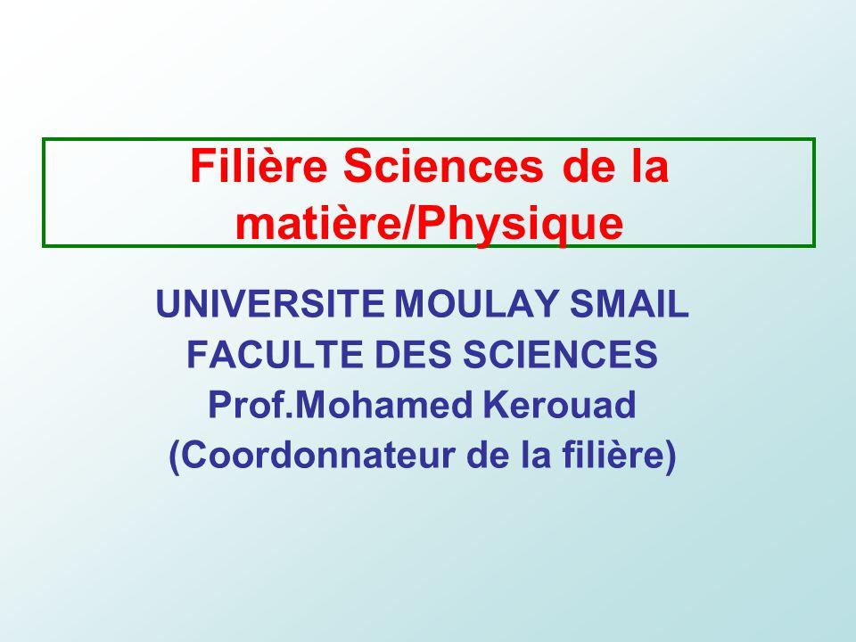 Filière Sciences de la matière/Physique