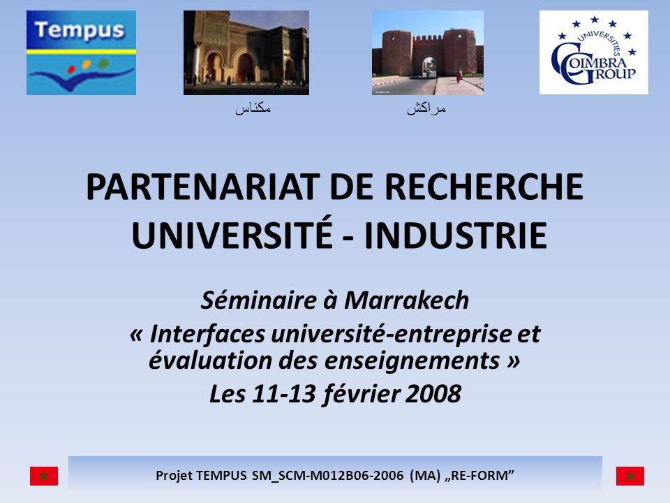PARTENARIAT DE RECHERCHE UNIVERSITÉ - INDUSTRIE