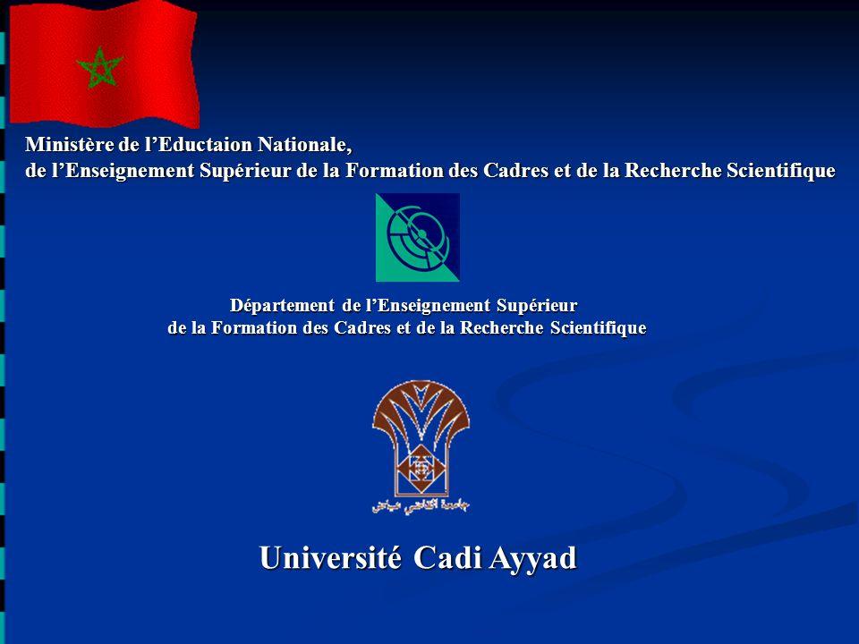 Université Cadi Ayyad Ministère de l'Eductaion Nationale,