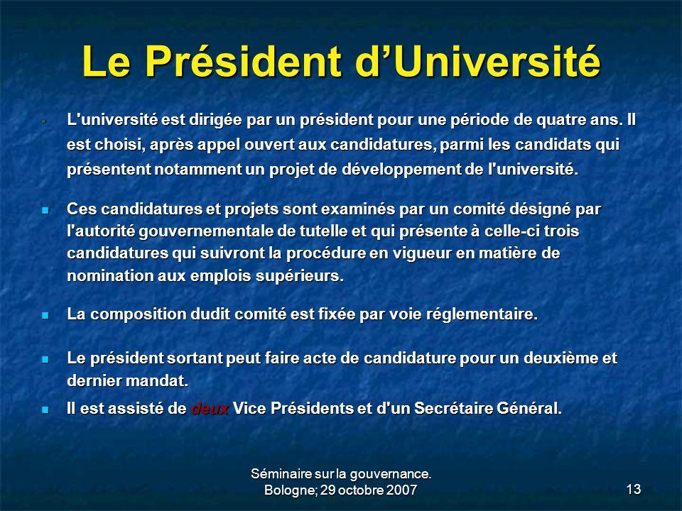 Le Président d'Université