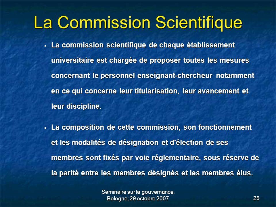 La Commission Scientifique