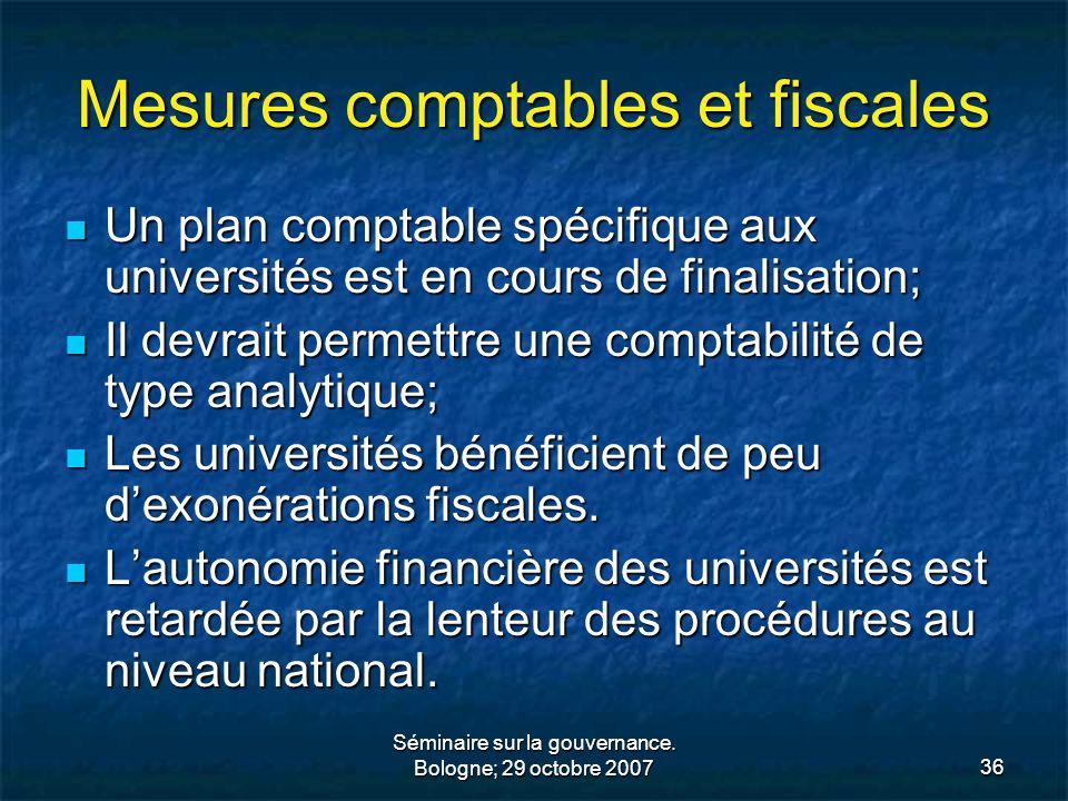 Mesures comptables et fiscales