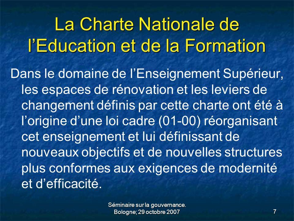 La Charte Nationale de l'Education et de la Formation