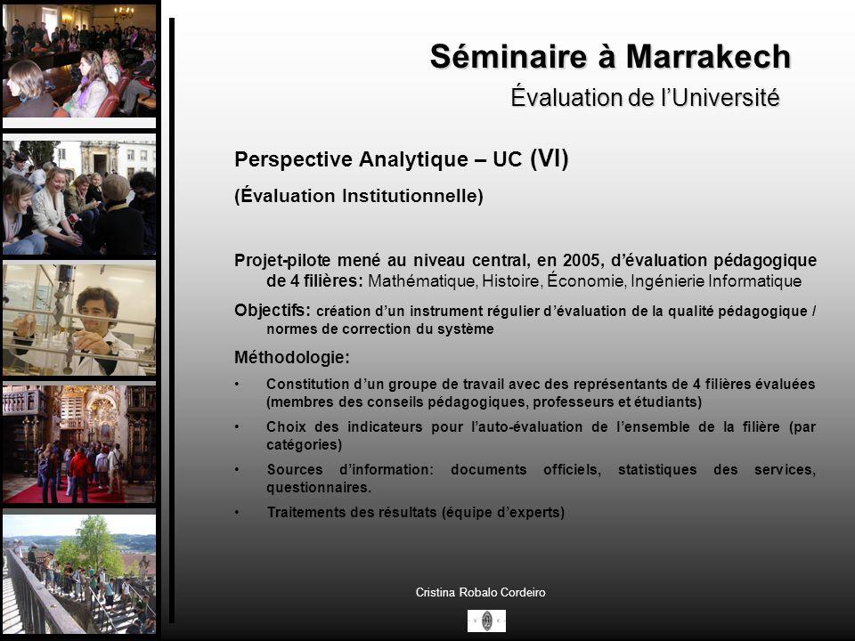 Séminaire à Marrakech Évaluation de l'Université