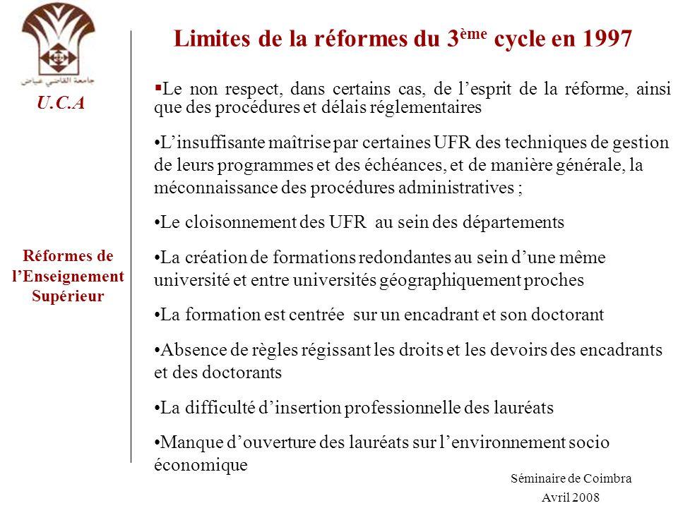 Limites de la réformes du 3ème cycle en 1997