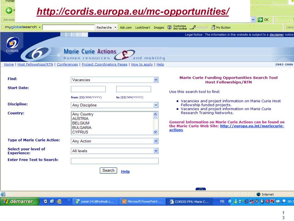 http://cordis.europa.eu/mc-opportunities/