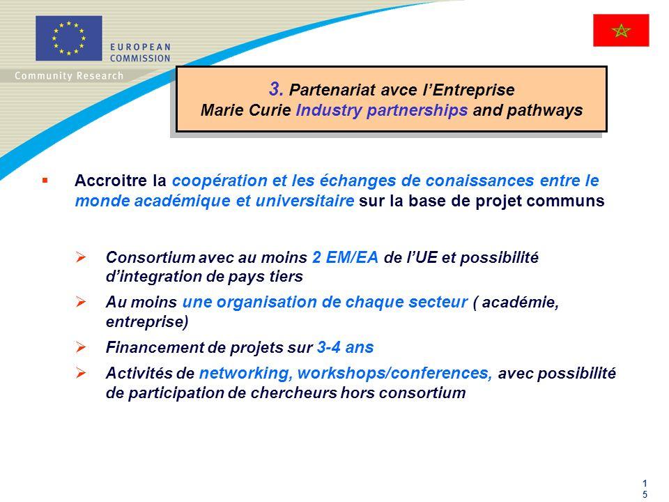 3. Partenariat avce l'Entreprise