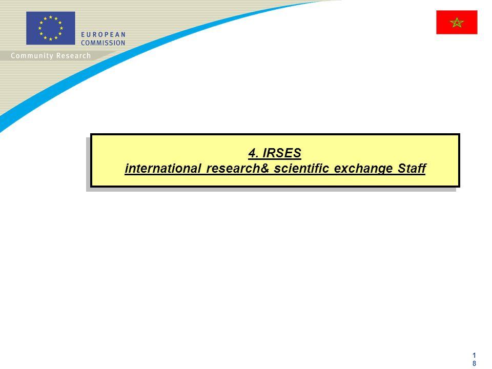 4. IRSES international research& scientific exchange Staff