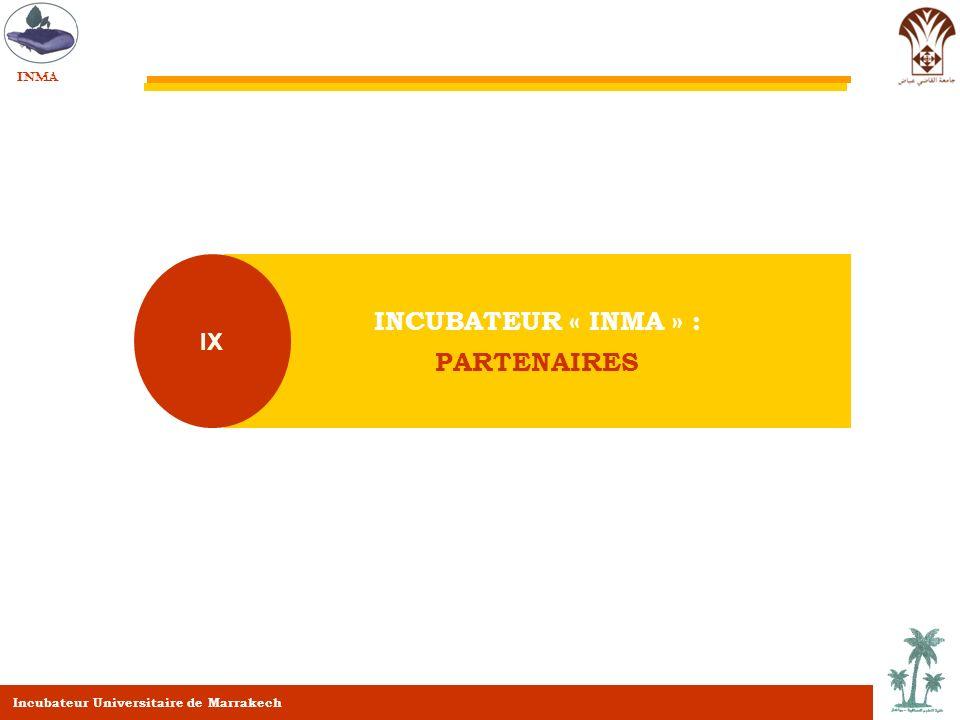 INCUBATEUR « INMA » : PARTENAIRES