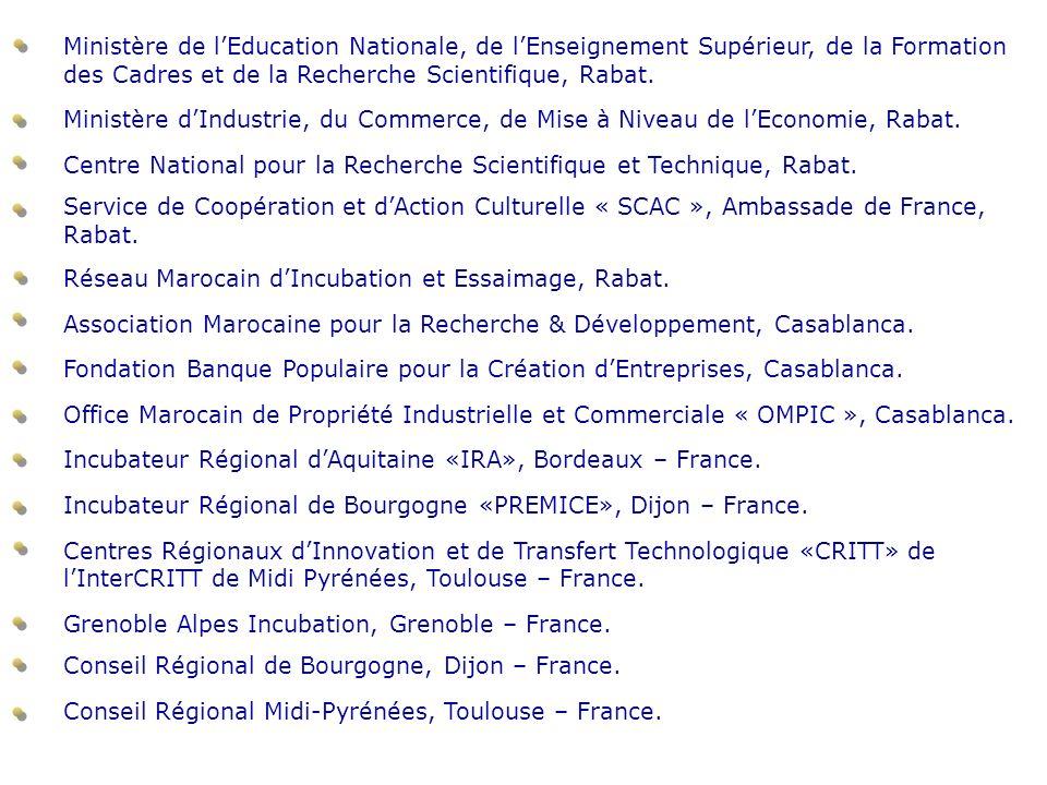 Ministère de l'Education Nationale, de l'Enseignement Supérieur, de la Formation des Cadres et de la Recherche Scientifique, Rabat.