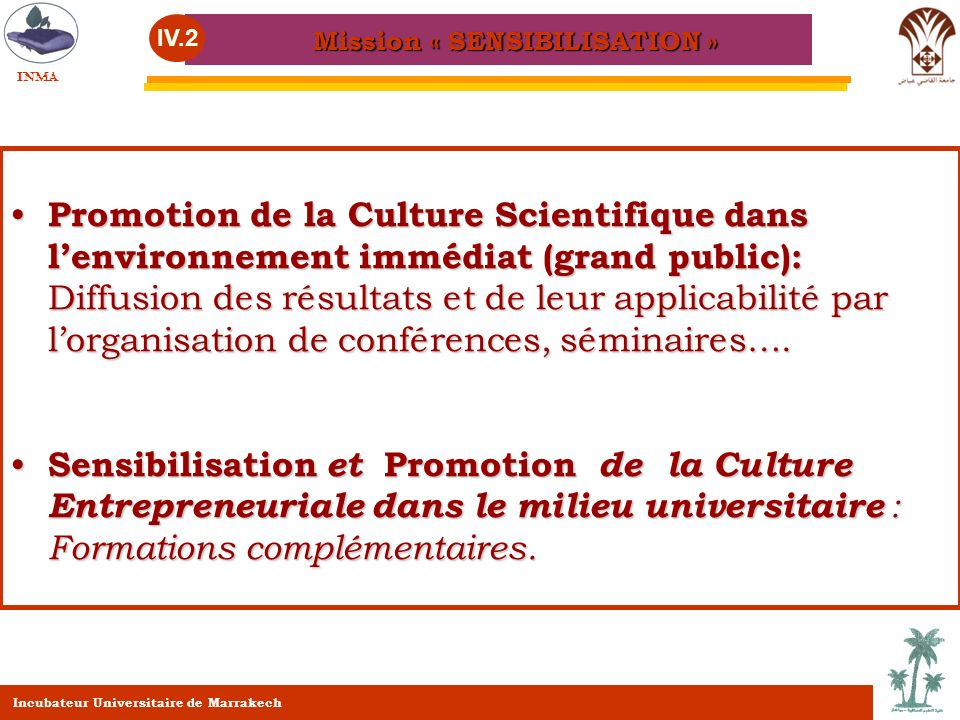 Mission « SENSIBILISATION »
