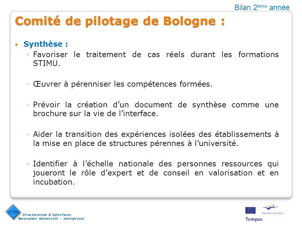 Comité de pilotage de Bologne :