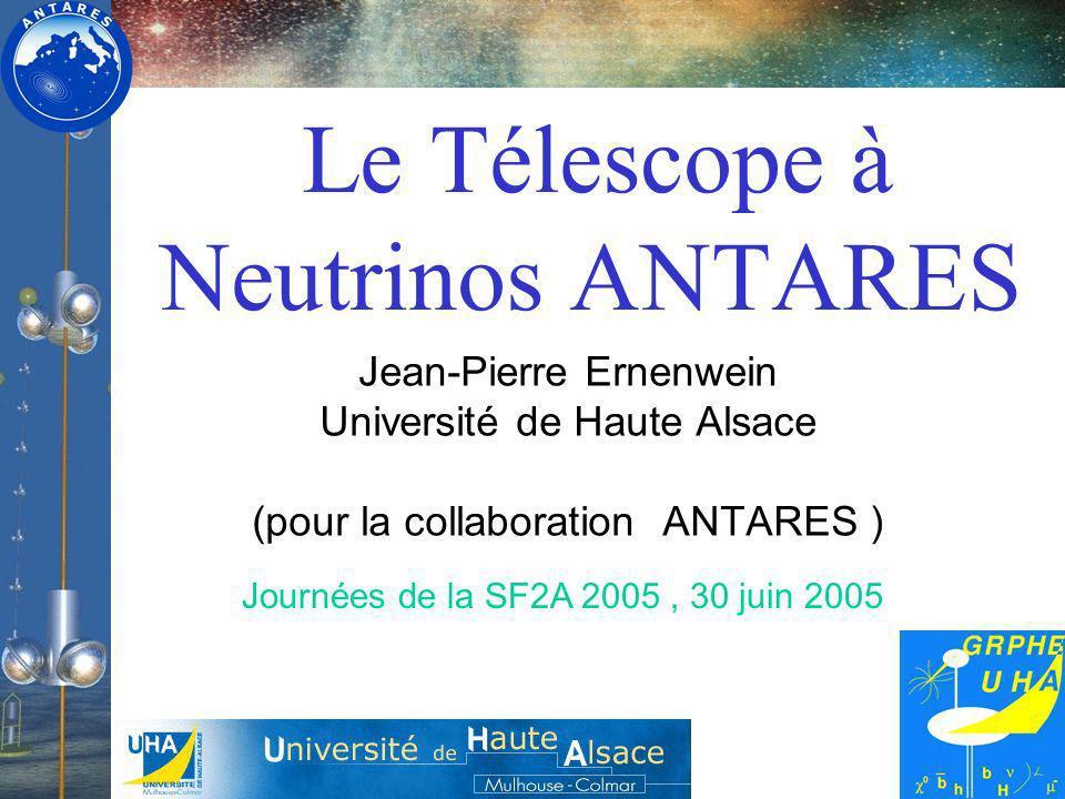 Le Télescope à Neutrinos ANTARES