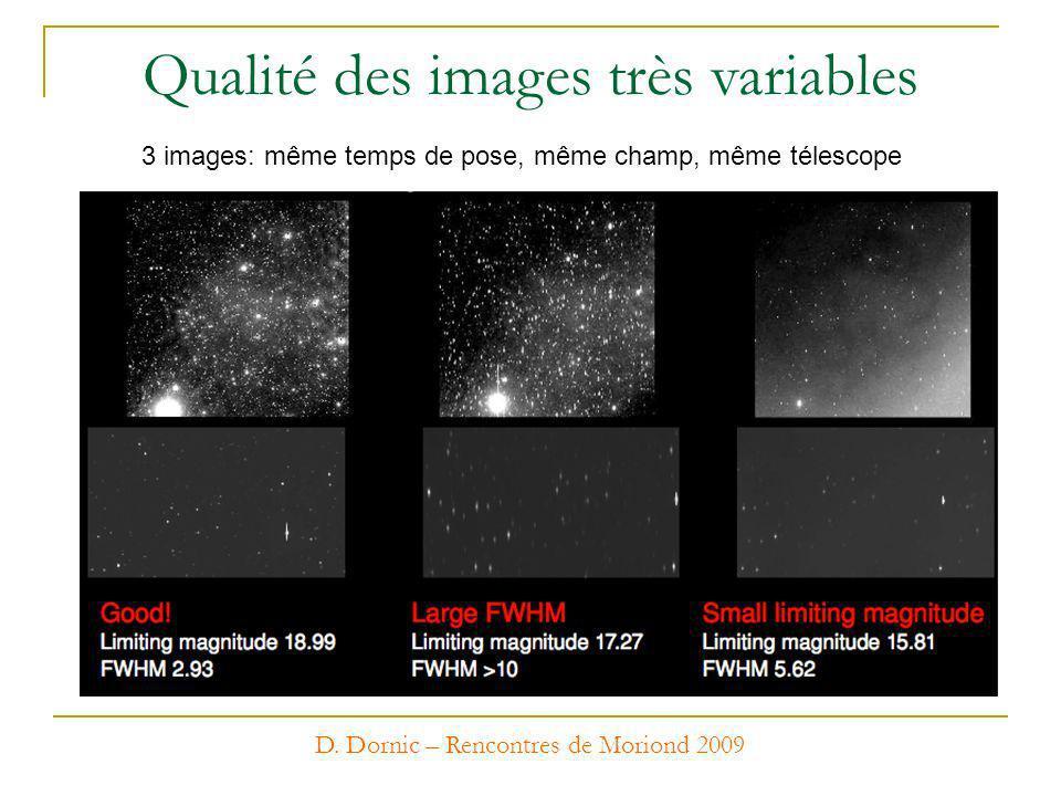 Qualité des images très variables