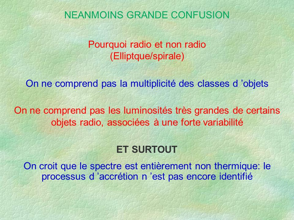 NEANMOINS GRANDE CONFUSION