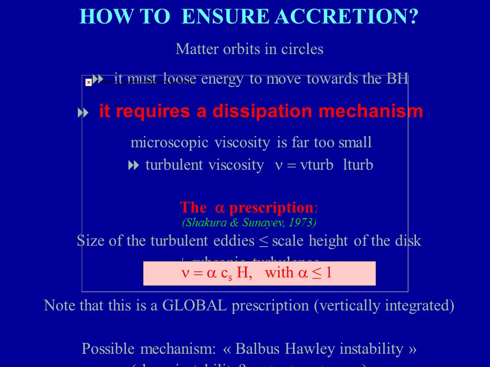 HOW TO ENSURE ACCRETION
