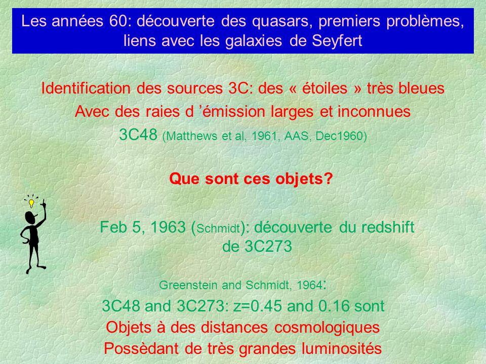 Identification des sources 3C: des « étoiles » très bleues
