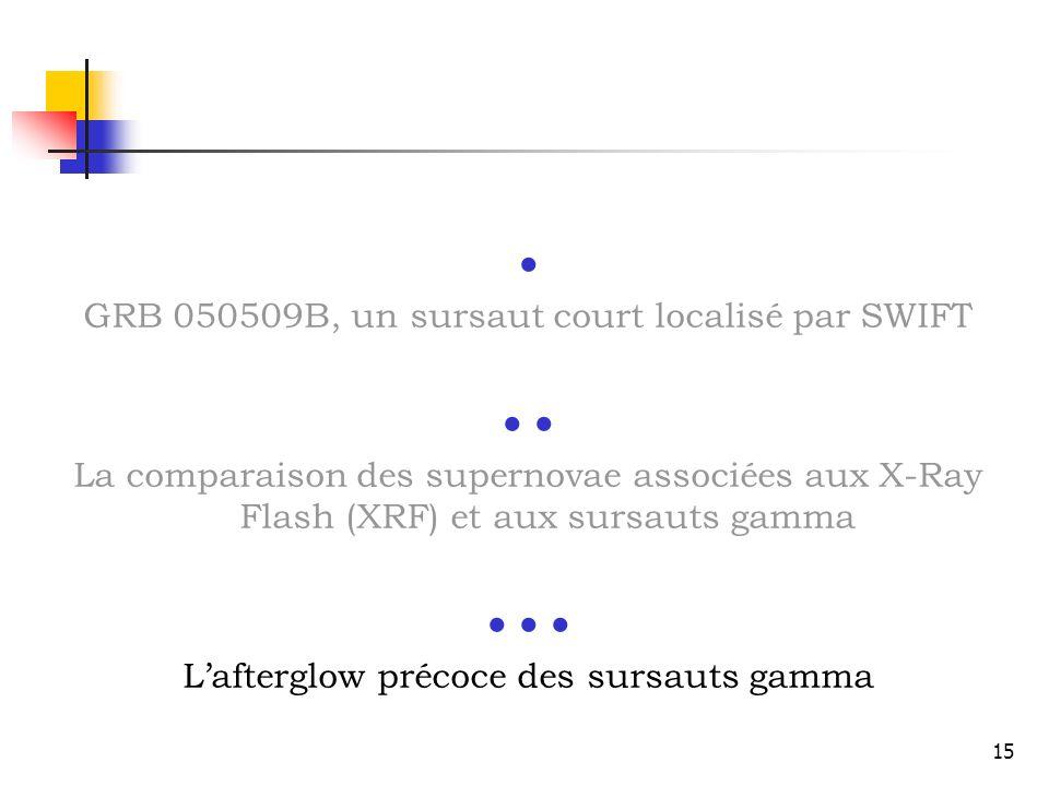       GRB 050509B, un sursaut court localisé par SWIFT