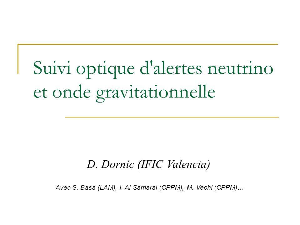 Suivi optique d alertes neutrino et onde gravitationnelle