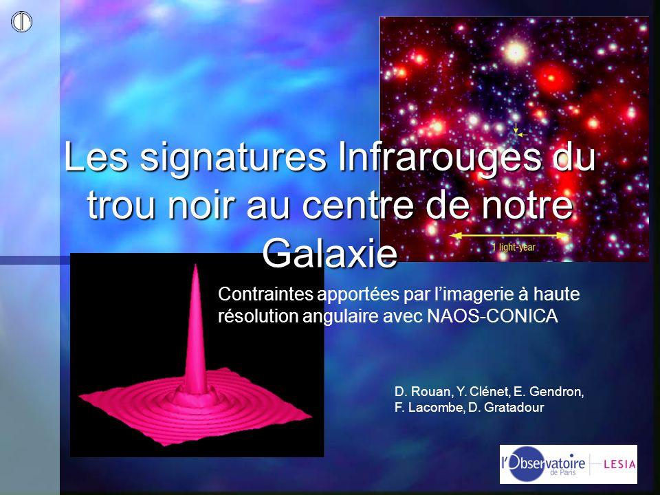 Les signatures Infrarouges du trou noir au centre de notre Galaxie