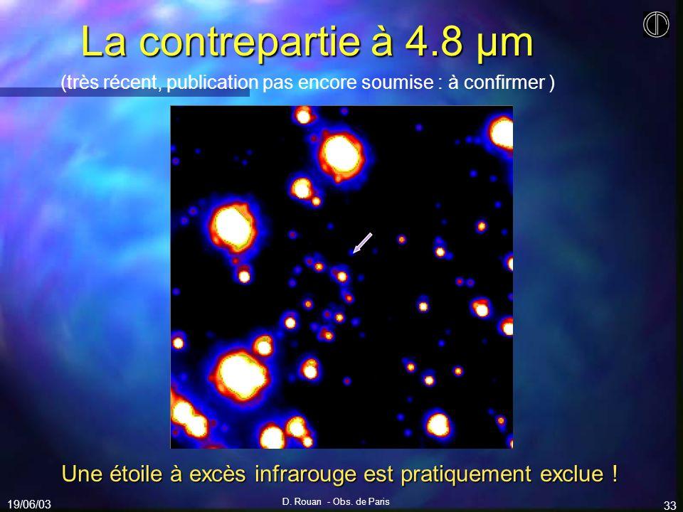 Une étoile à excès infrarouge est pratiquement exclue !