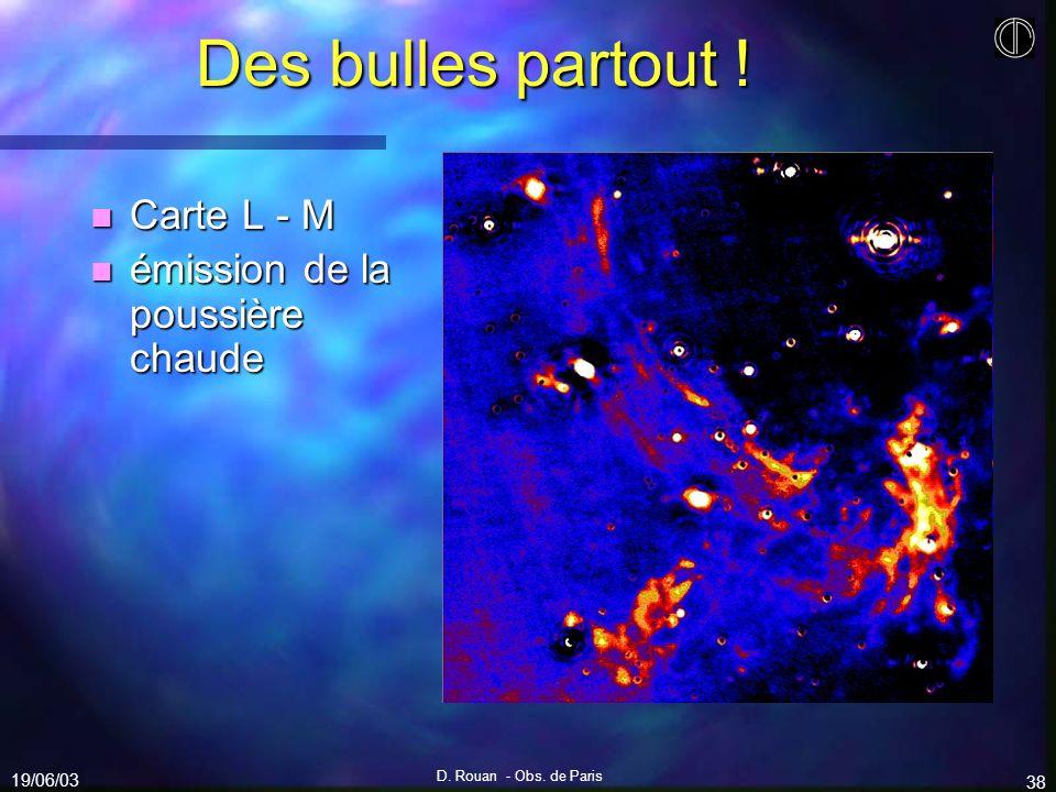 Des bulles partout ! Carte L - M émission de la poussière chaude