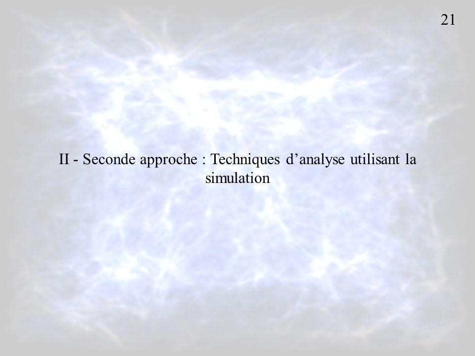 II - Seconde approche : Techniques d'analyse utilisant la simulation