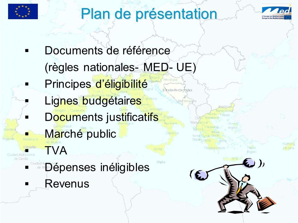 Plan de présentation Documents de référence