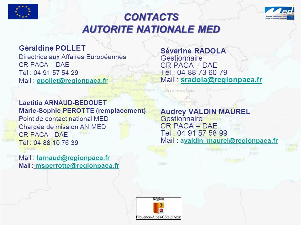 CONTACTS AUTORITE NATIONALE MED