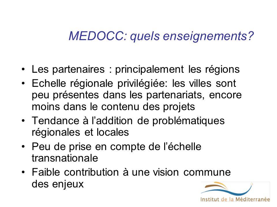 MEDOCC: quels enseignements