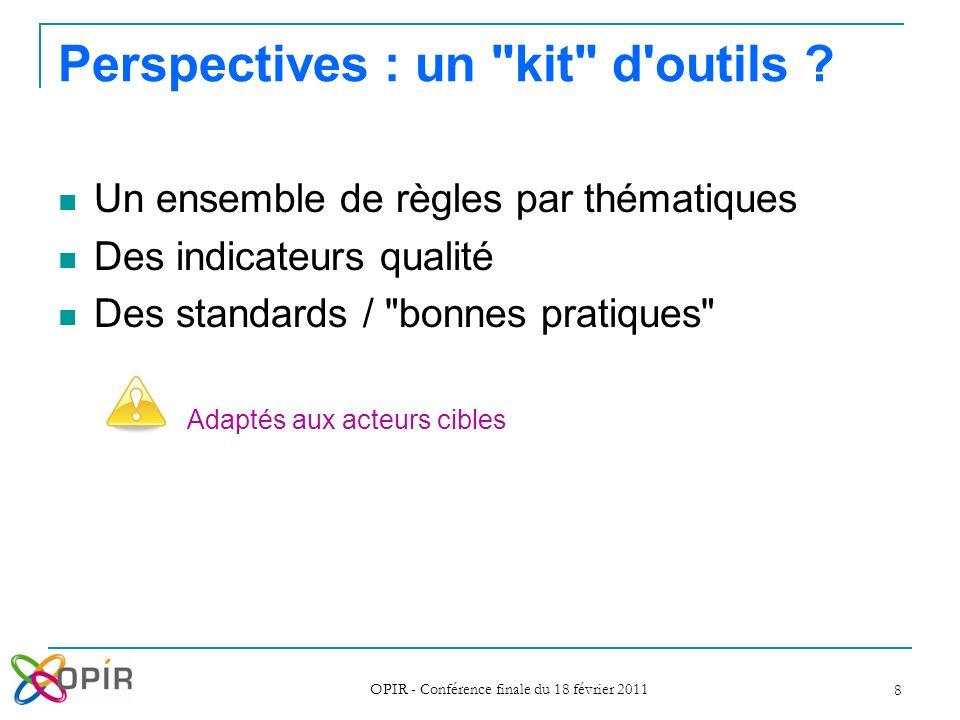 Perspectives : un kit d outils