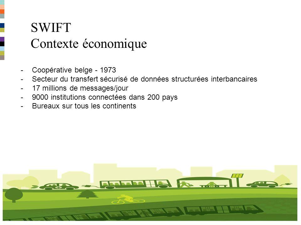 SWIFT Contexte économique