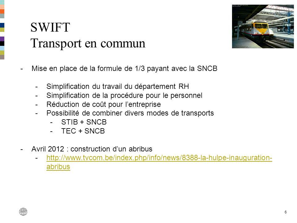 SWIFT Transport en commun